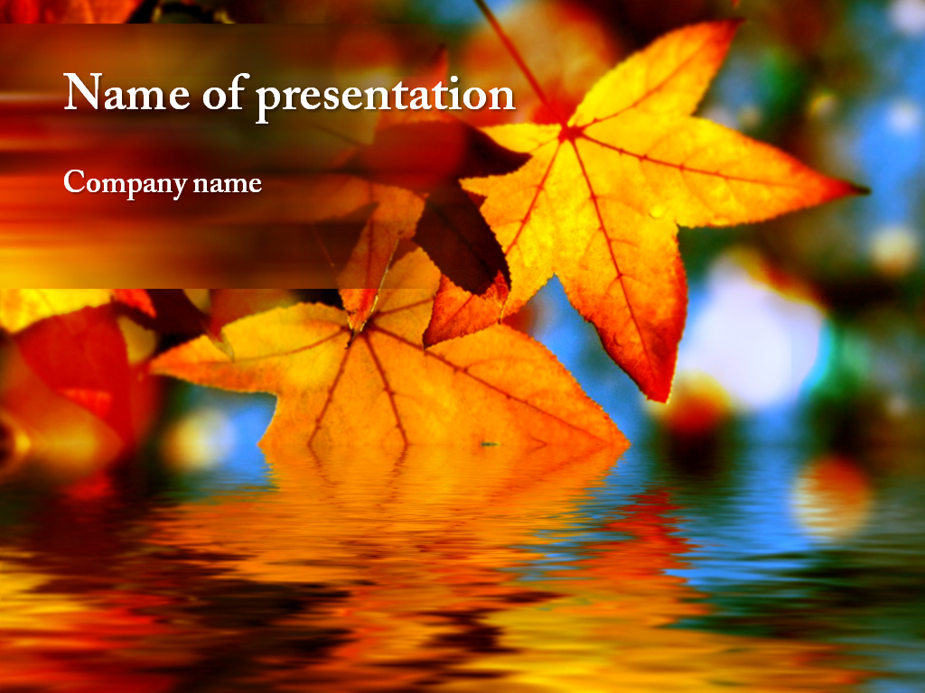 Free Autumn leaves powerpoint template presentation