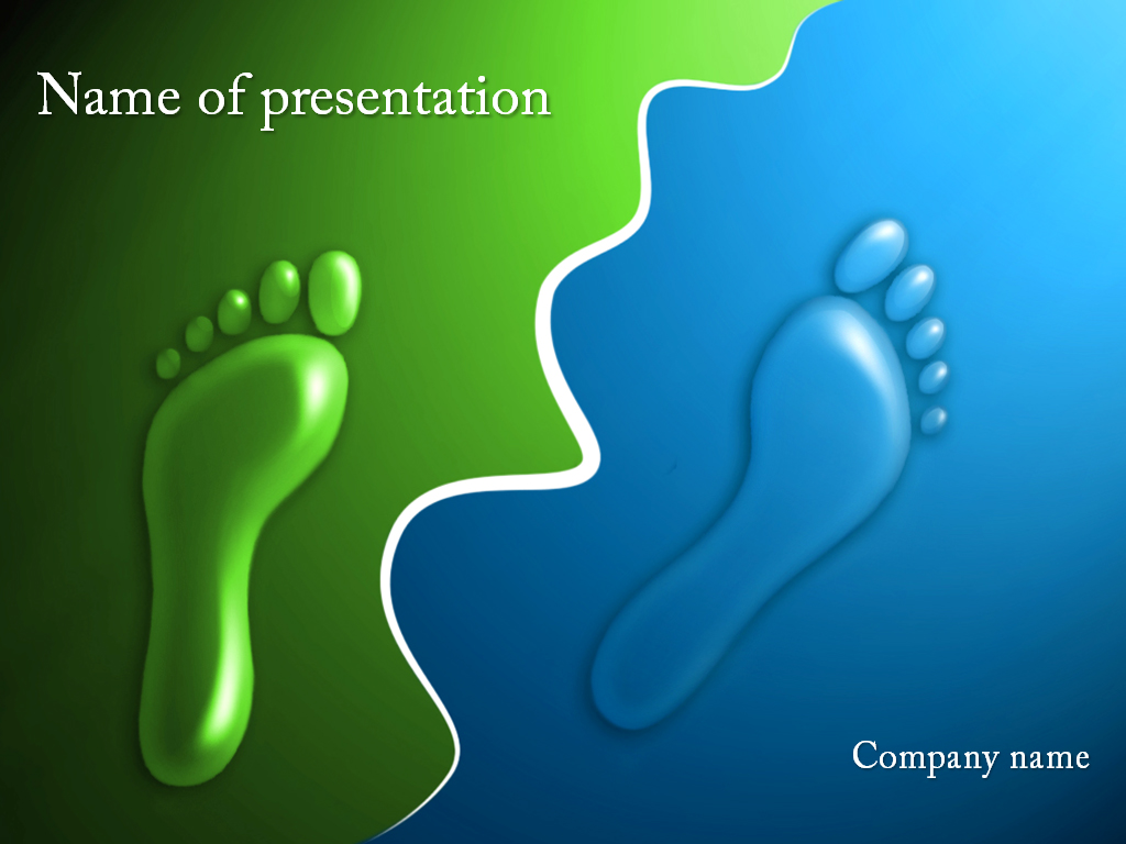 Free Footprints powerpoint template presentation