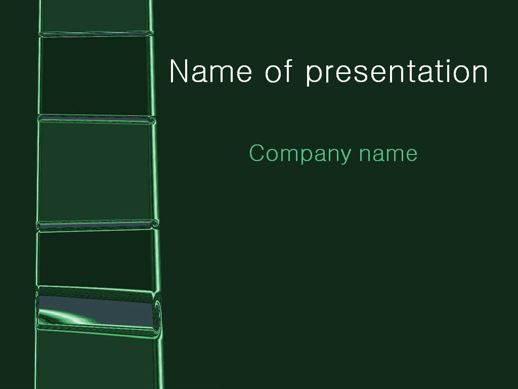 Free Green Ladder PowerPoint template presentation