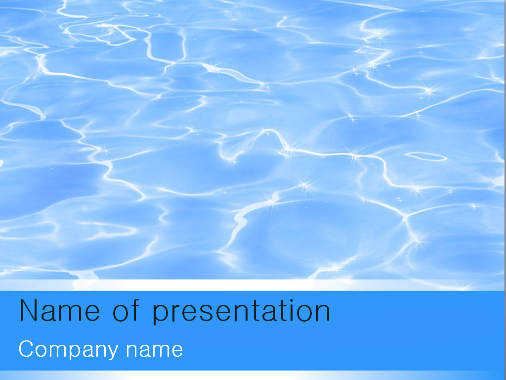 Free blue water PowerPoint template presentation