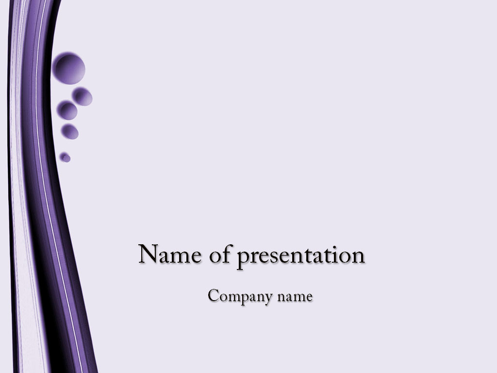Violet bubbles powerpoint template presentation