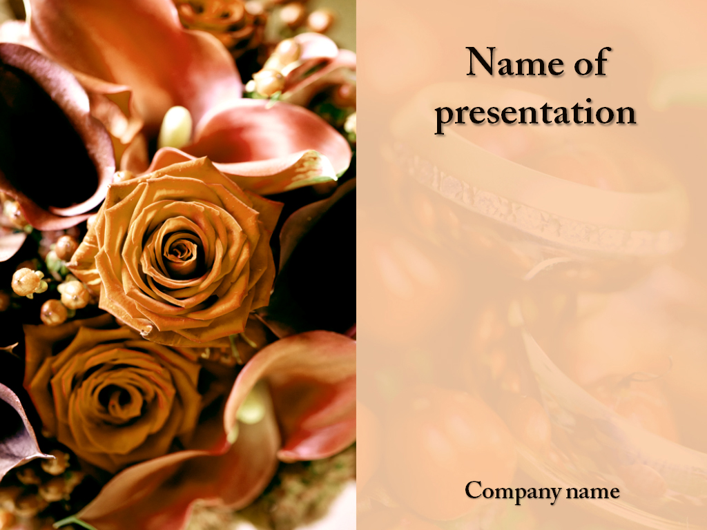 Wedding celebration free powerpoint template presentation