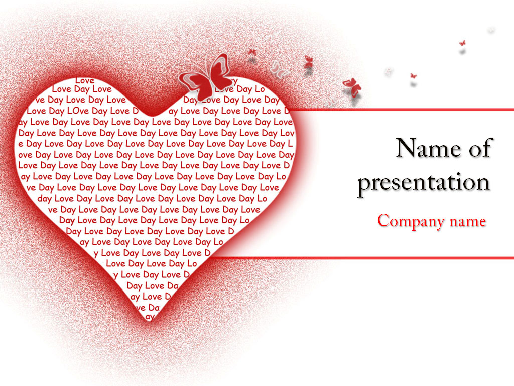 Free Love Heart powerpoint template presentation