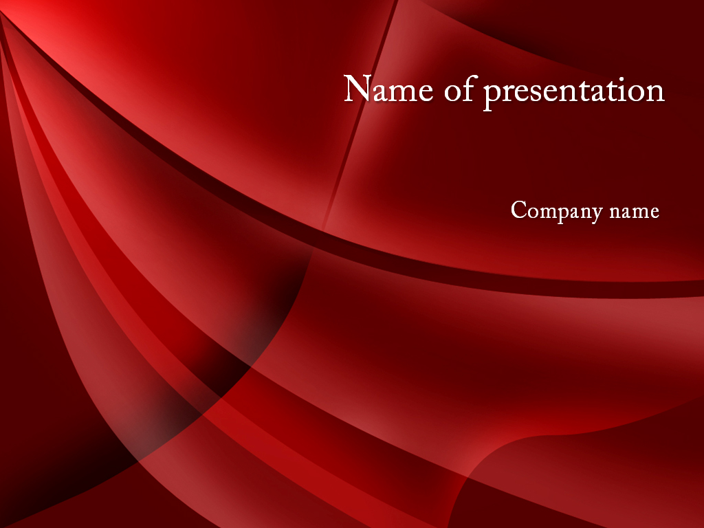 Free red waves powerpoint template presentation
