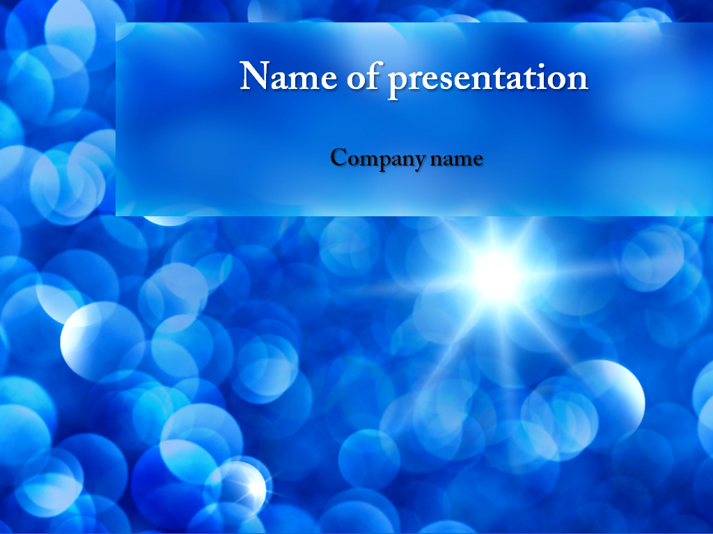 Sun Beams free powerpoint template presentation