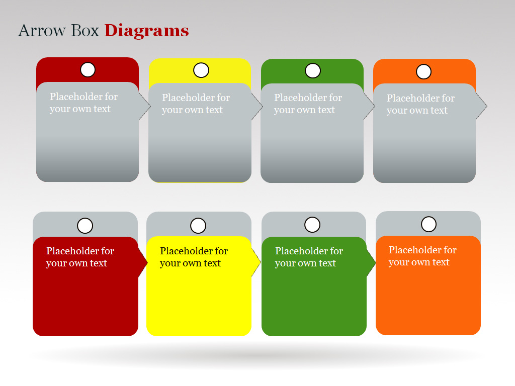 Arrow Box Powerpoint Charts and Diagrams