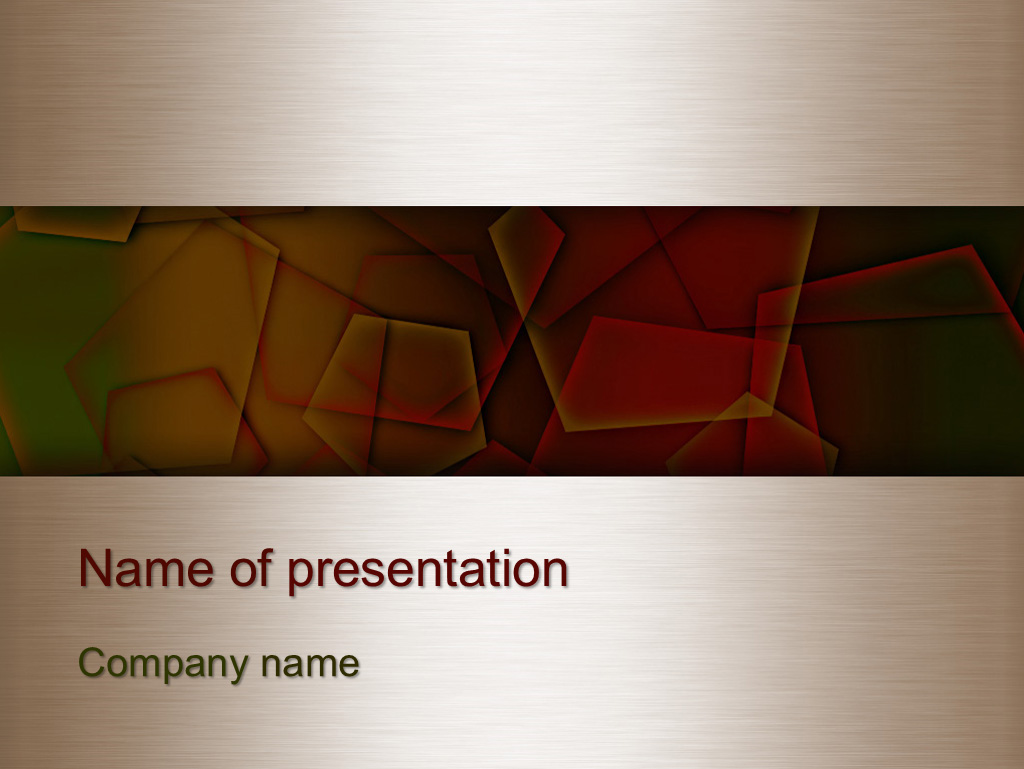 Free Autumn colors powerpoint template presentation
