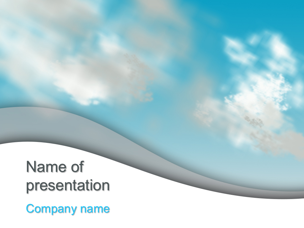 Free Cloudy sky powerpoint template presentation...