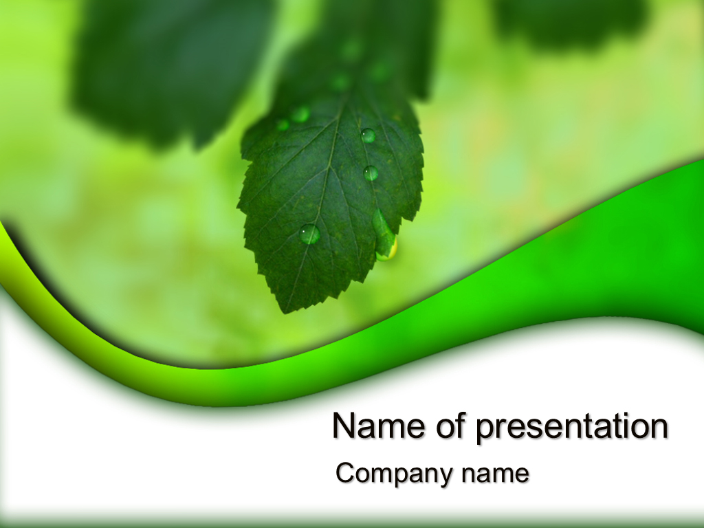 Free Green nature powerpoint templates presentation.