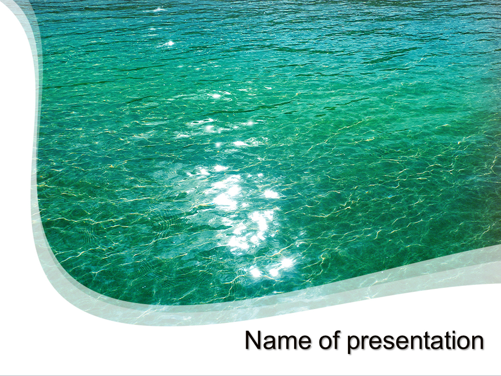Big Sea powerpoint template presentation