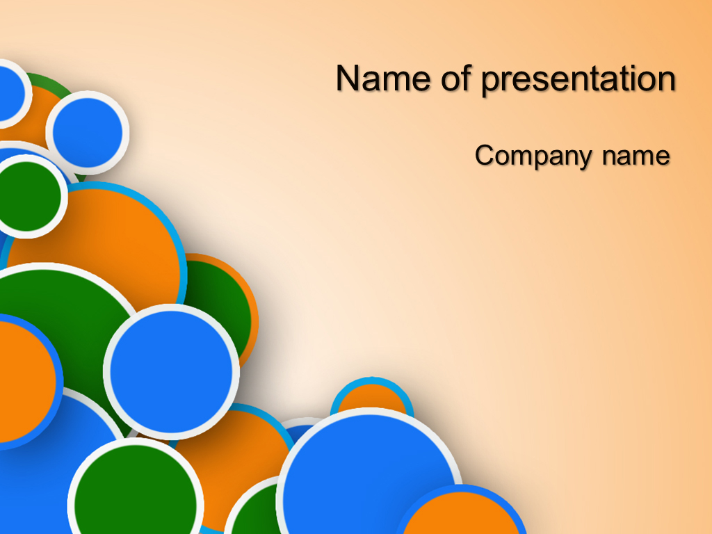 Free Circles powerpoint template presentation