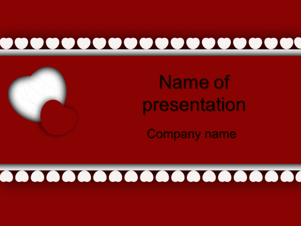 Free big heart powerpoint template presentation