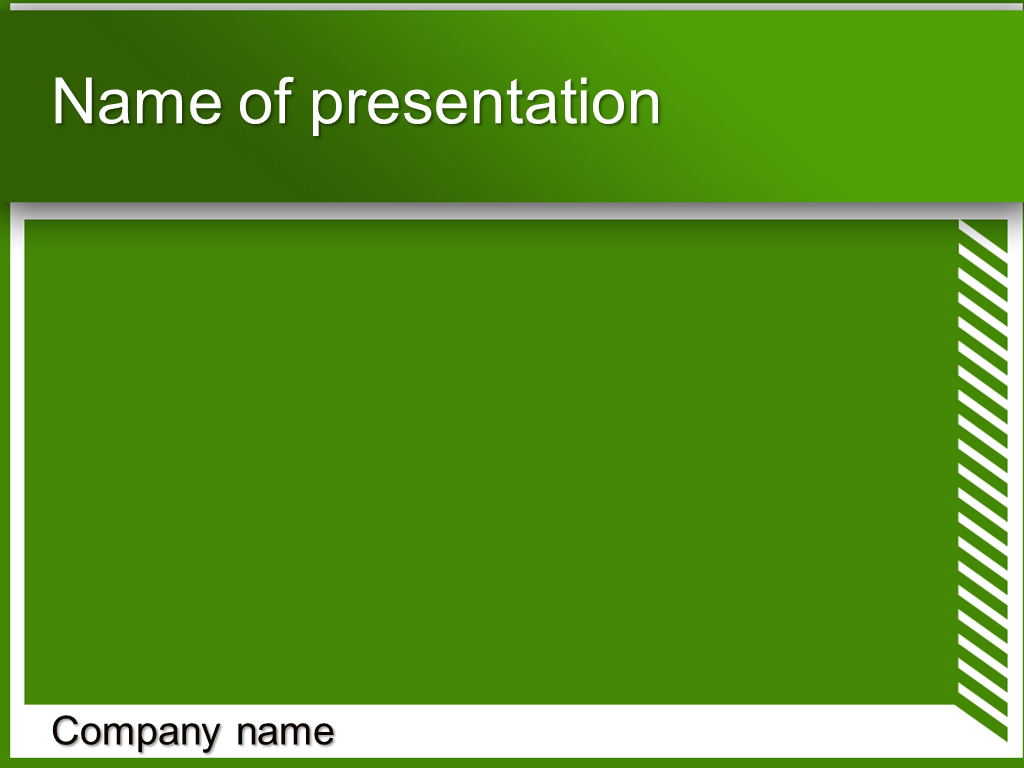 Free green with stripes powerpoint template presentation