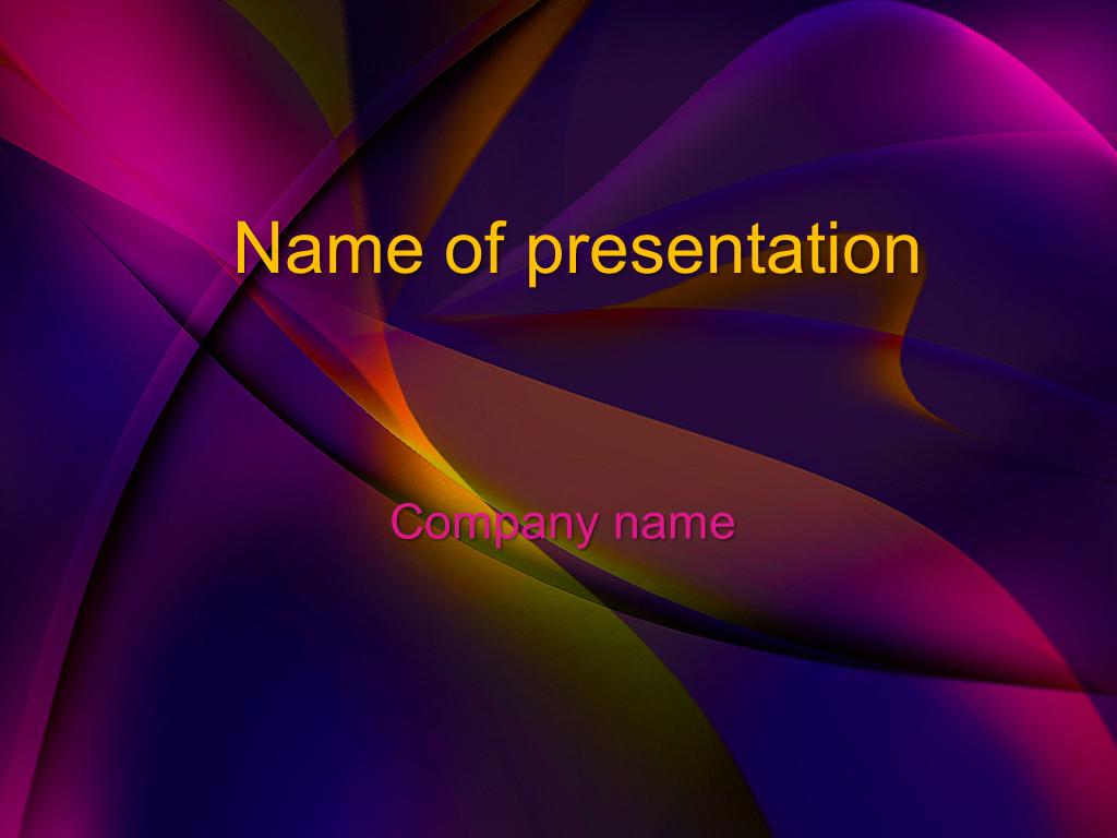 Purple Dream free powerpoint template presentation
