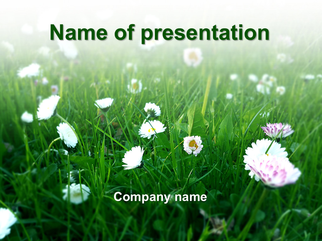Summer grass powerpoint template presentation