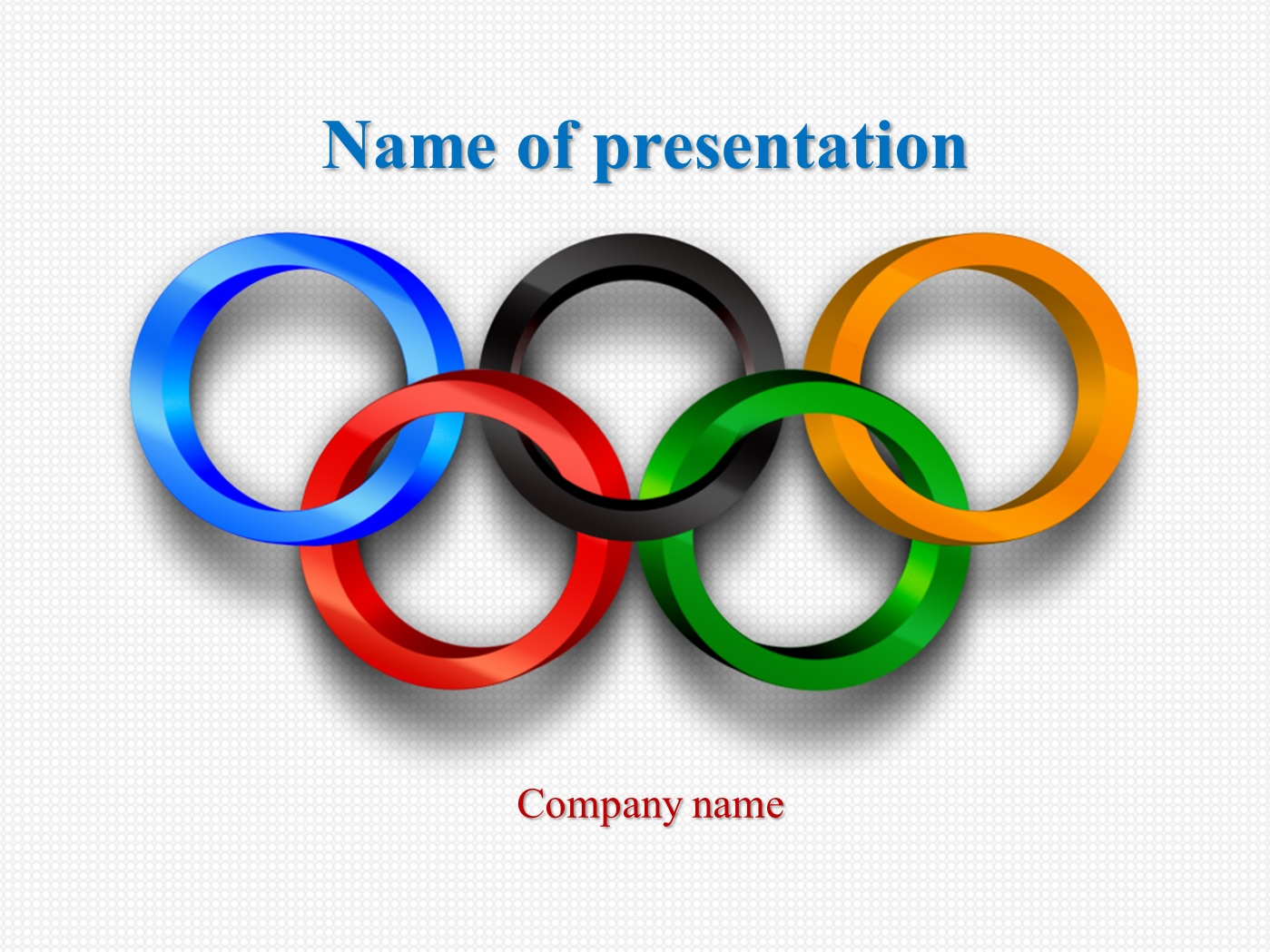 free olympic results powerpoint templates presentation
